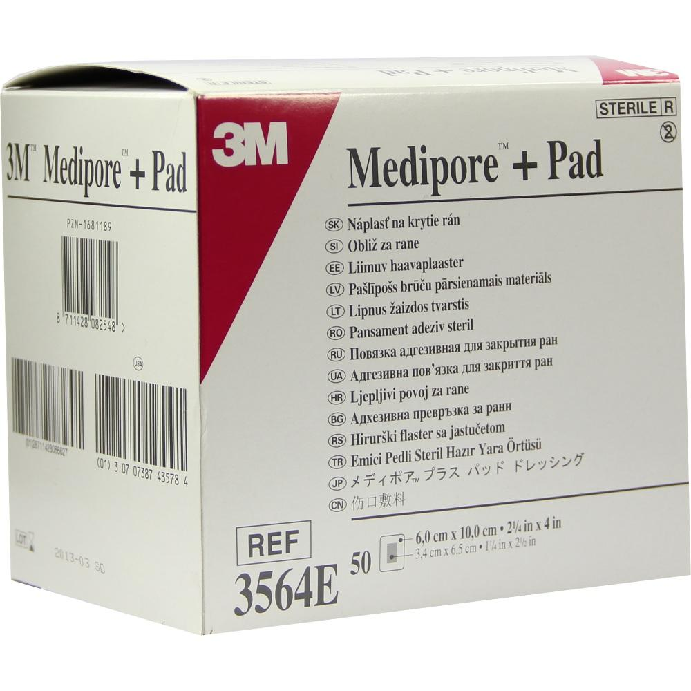 01681189, Medipore plus Pad steriler Wundverband 3564E, 50 ST