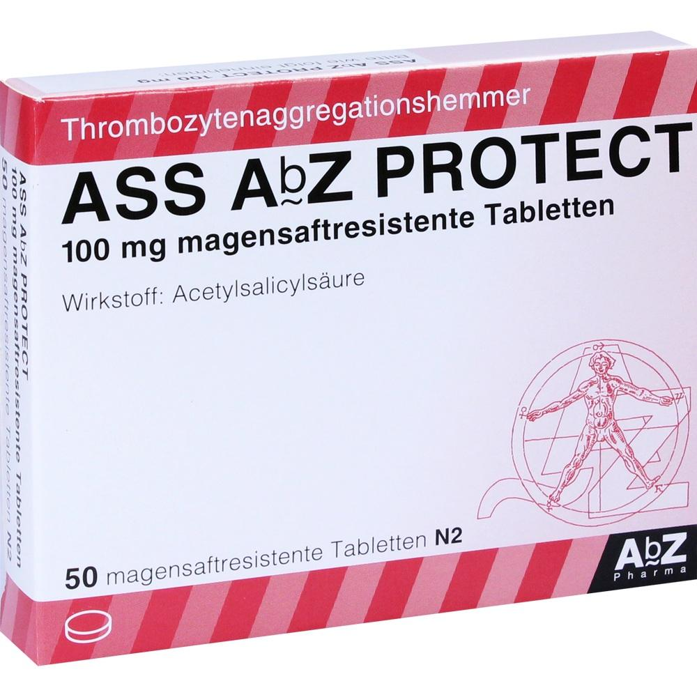 01696788, ASS AbZ PROTECT 100 mg magensaftresistente Tabl, 50 ST