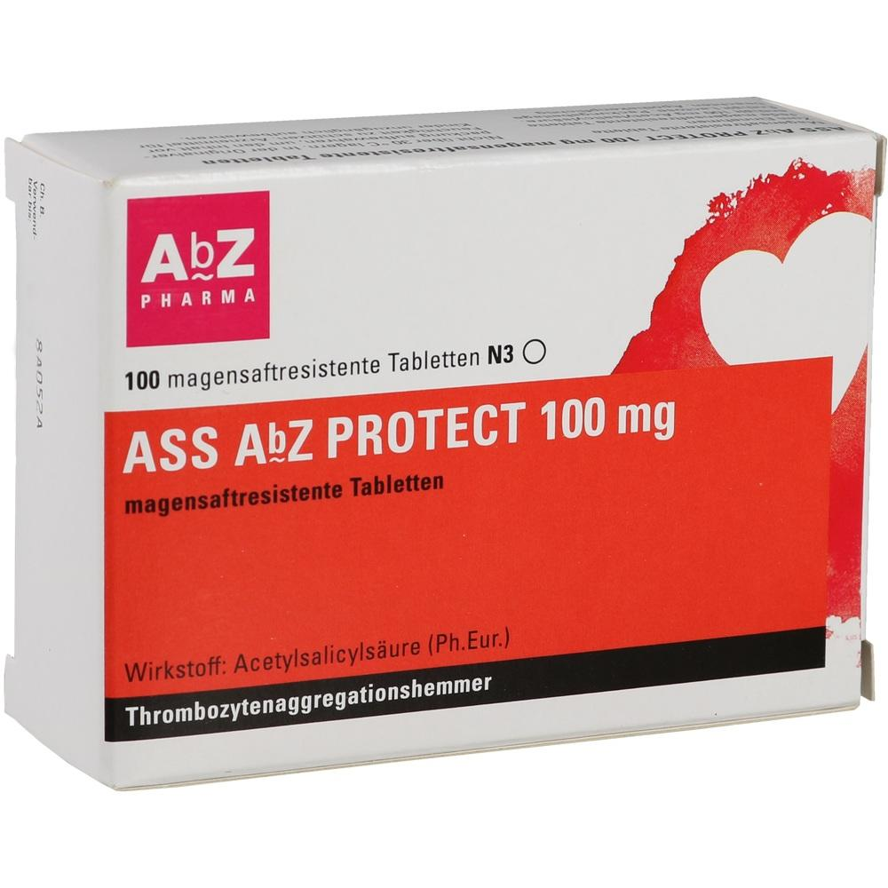 01696794, ASS AbZ PROTECT 100 mg magensaftresistente Tabl, 100 ST