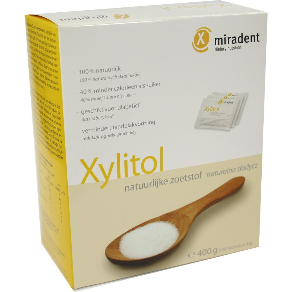 01698505, miradent Xylitol Pulver Sachets, 100X4 G