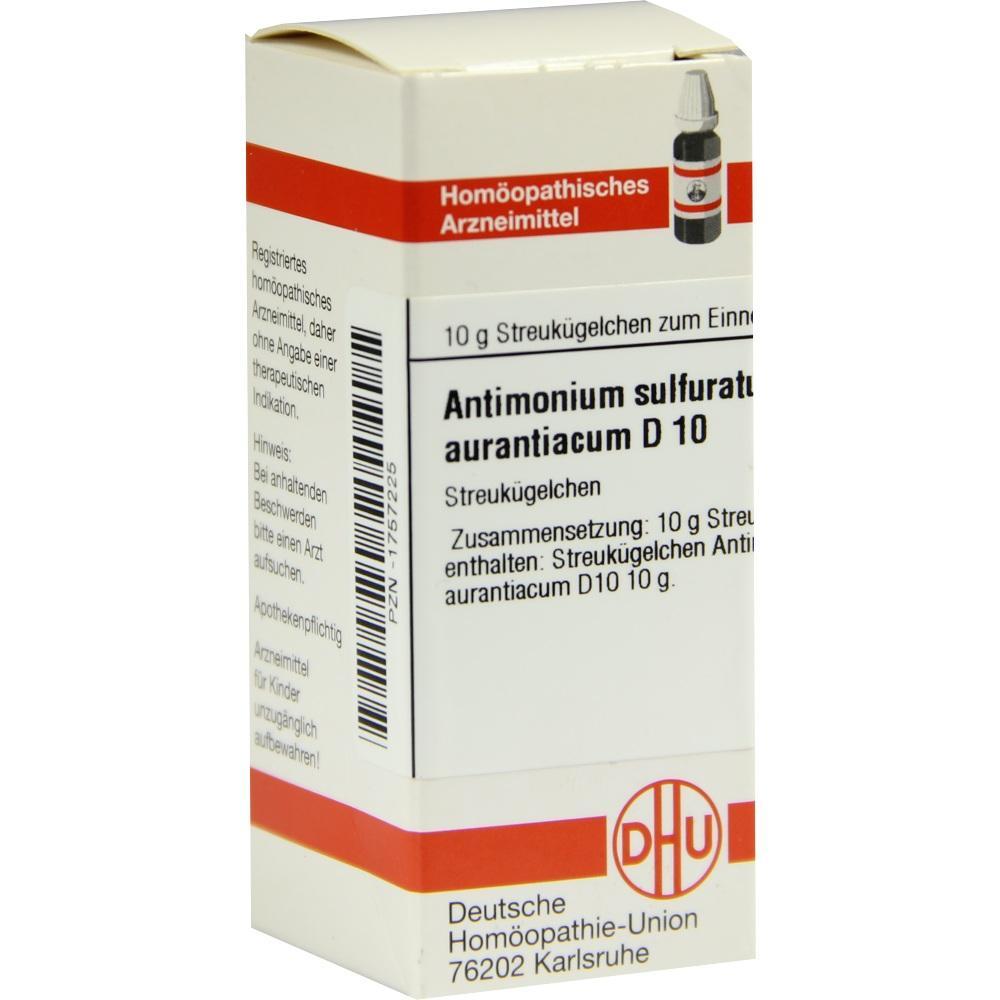 ANTIMONIUM SULFURATUM aurantiacum D 10 Globuli
