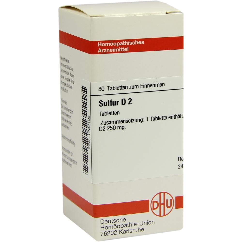 SULFUR D 2 Tabletten