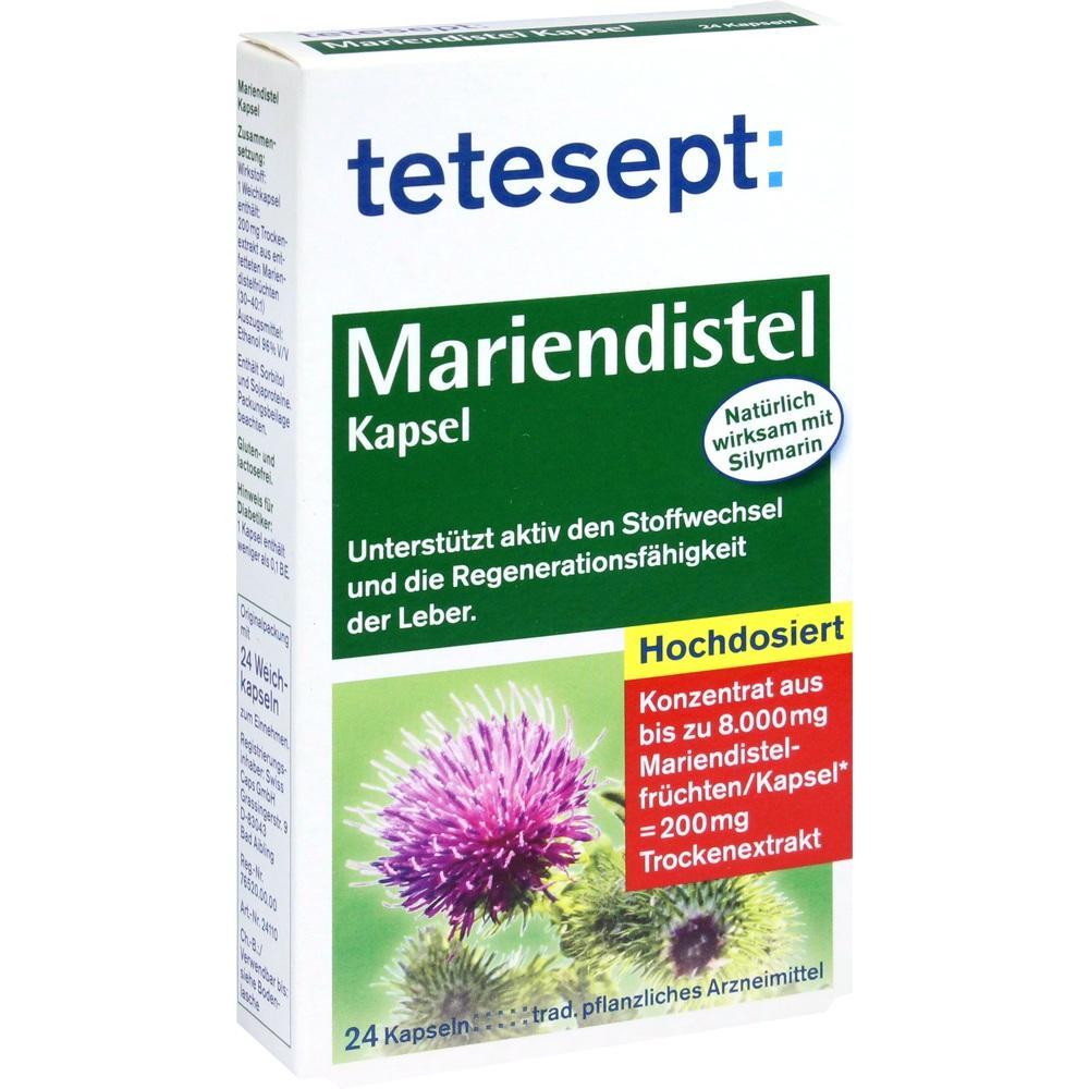 01801794, tetesept Mariendistel Kapseln, 24 ST