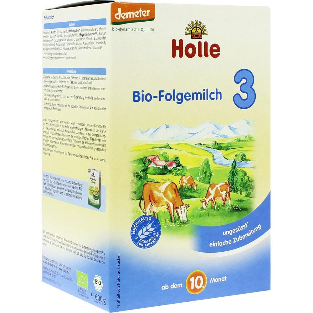 01875752, Holle Bio Säuglings-Folgemilch 3, 600 G