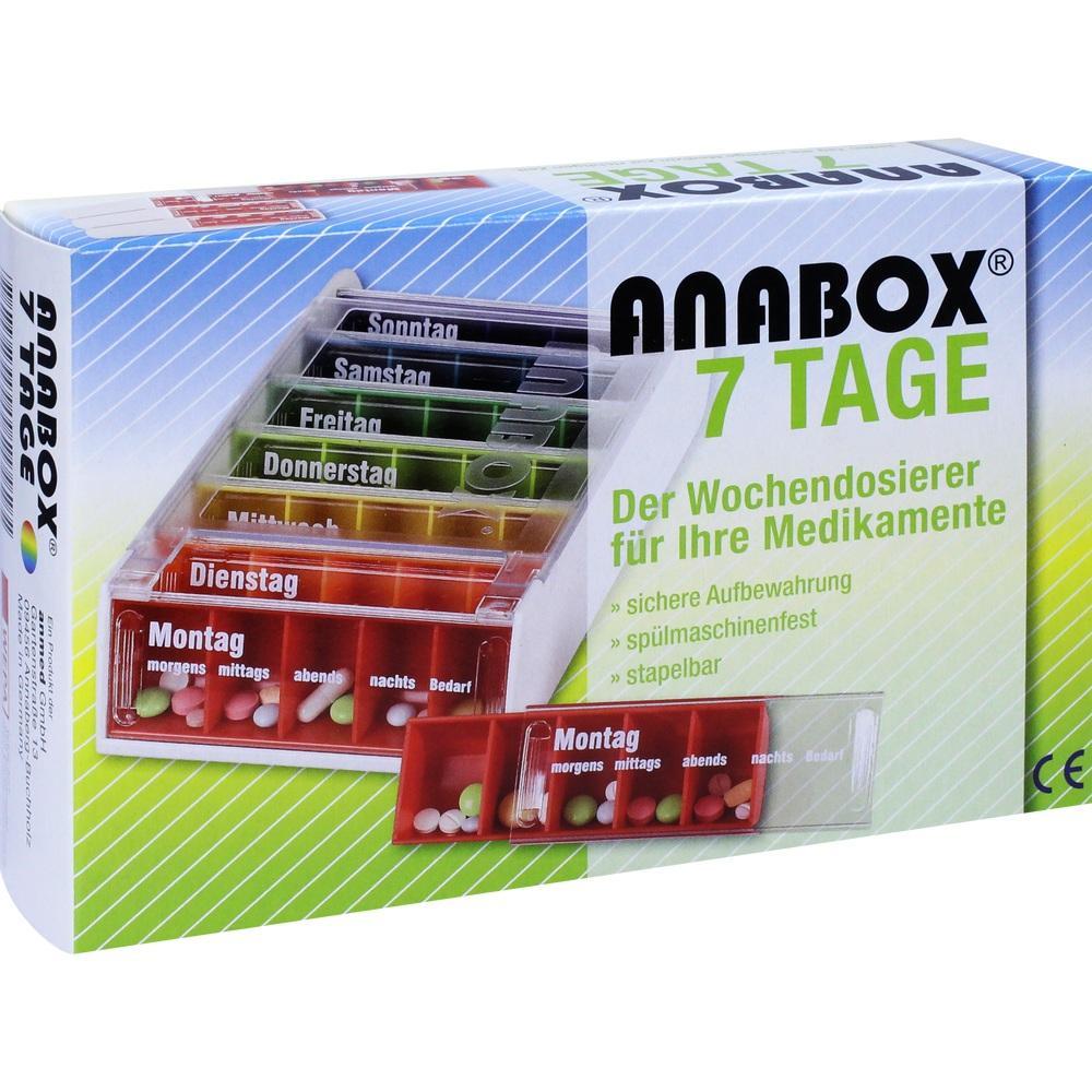 01889010, ANABOX 7 Tage Regenbogen, 1 ST