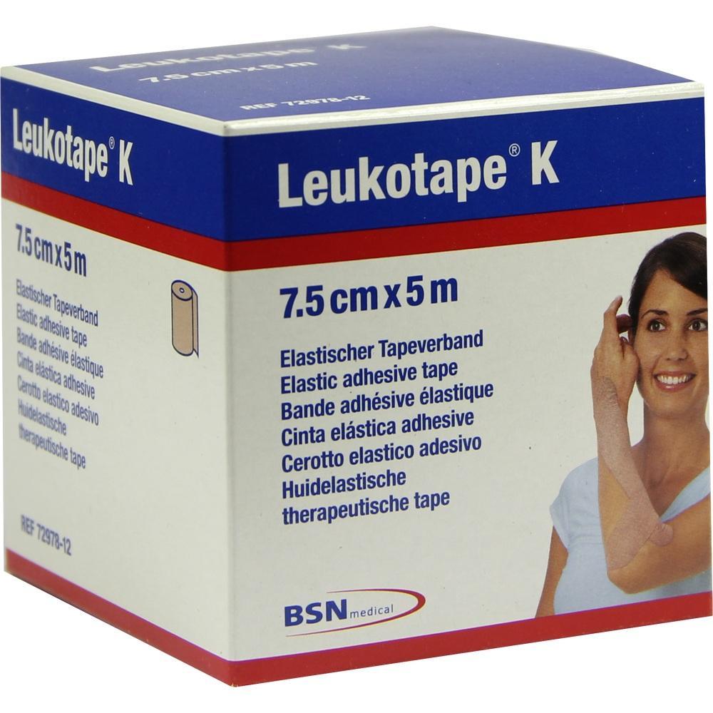 LEUKOTAPE K 7,5 cm hautfarben