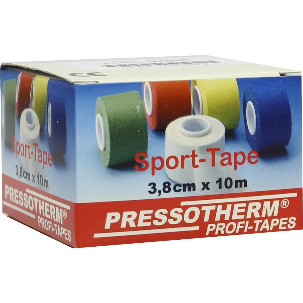 02002339, Pressotherm Sport-Tape weiß 3.8cmx10m, 1 ST