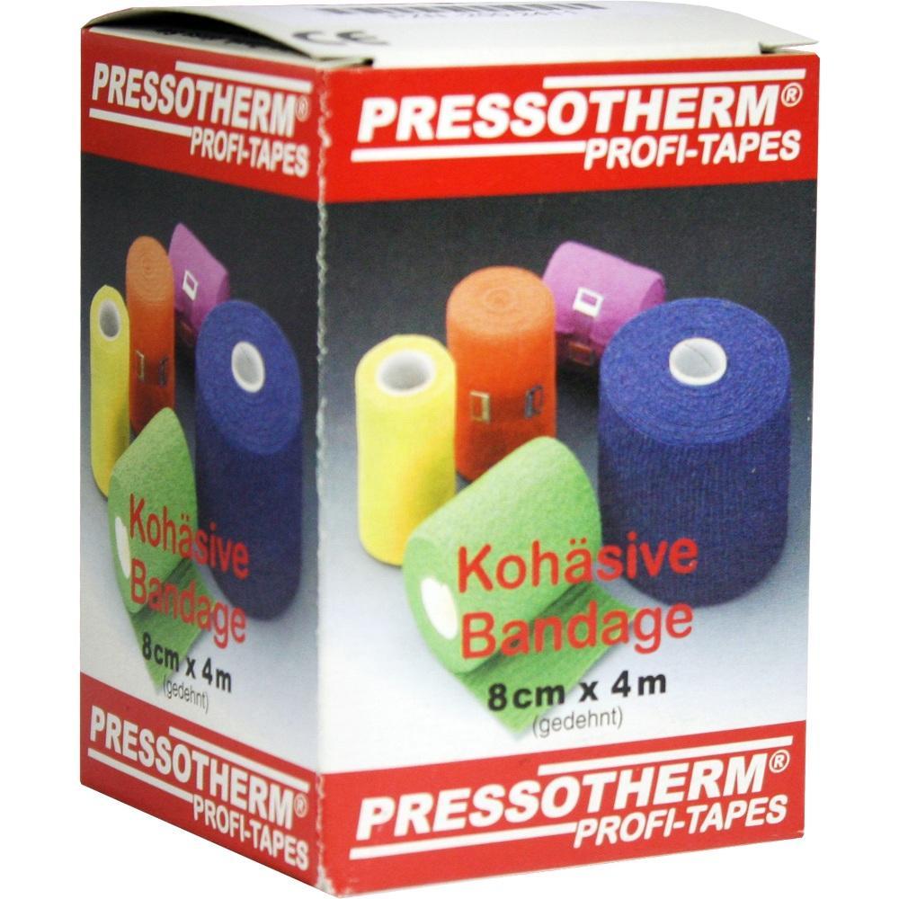 02002411, Pressotherm Kohäsive Bandage 8cmx4m grün, 1 ST