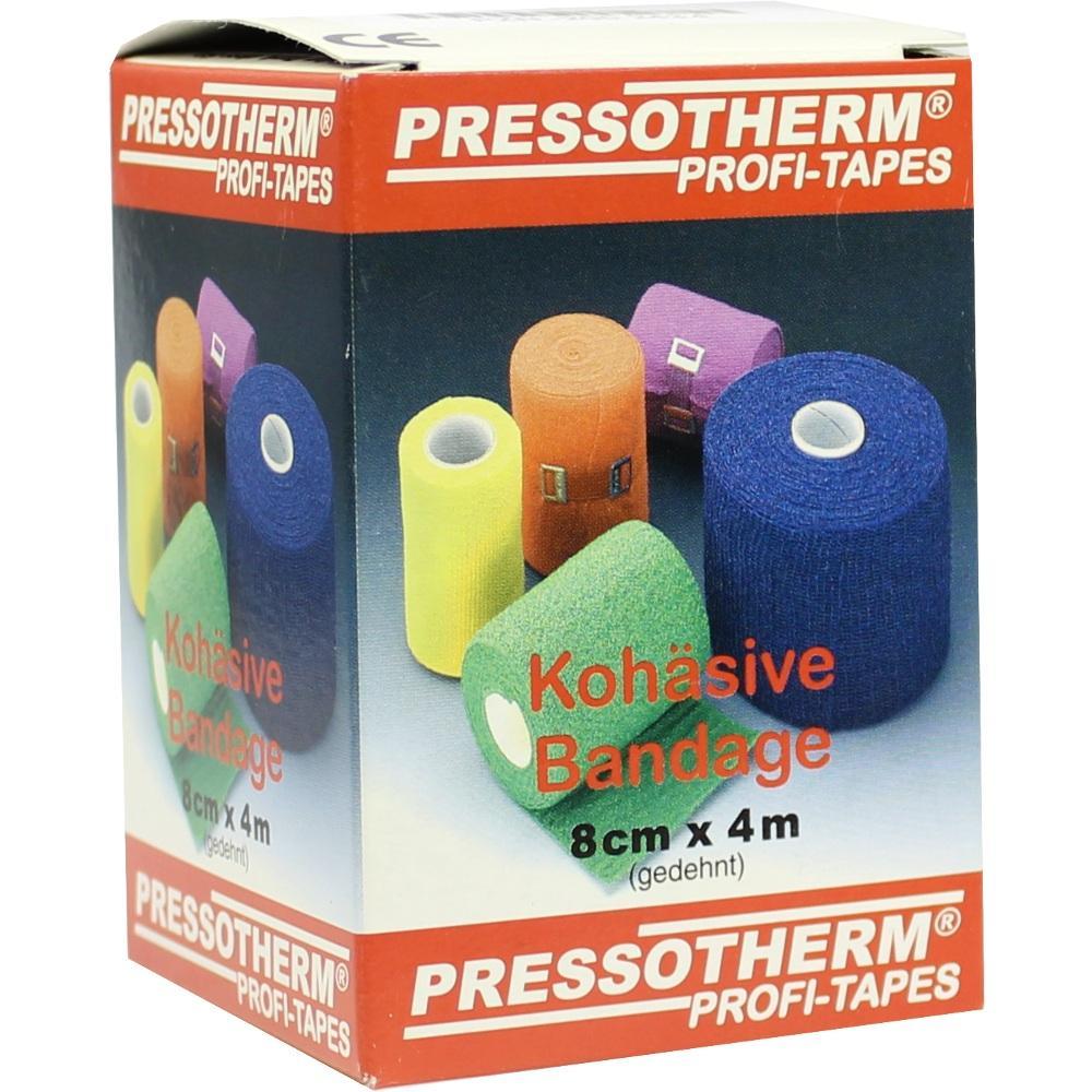 02002434, Pressotherm Kohäsive Bandage 8cmx4m gelb, 1 ST
