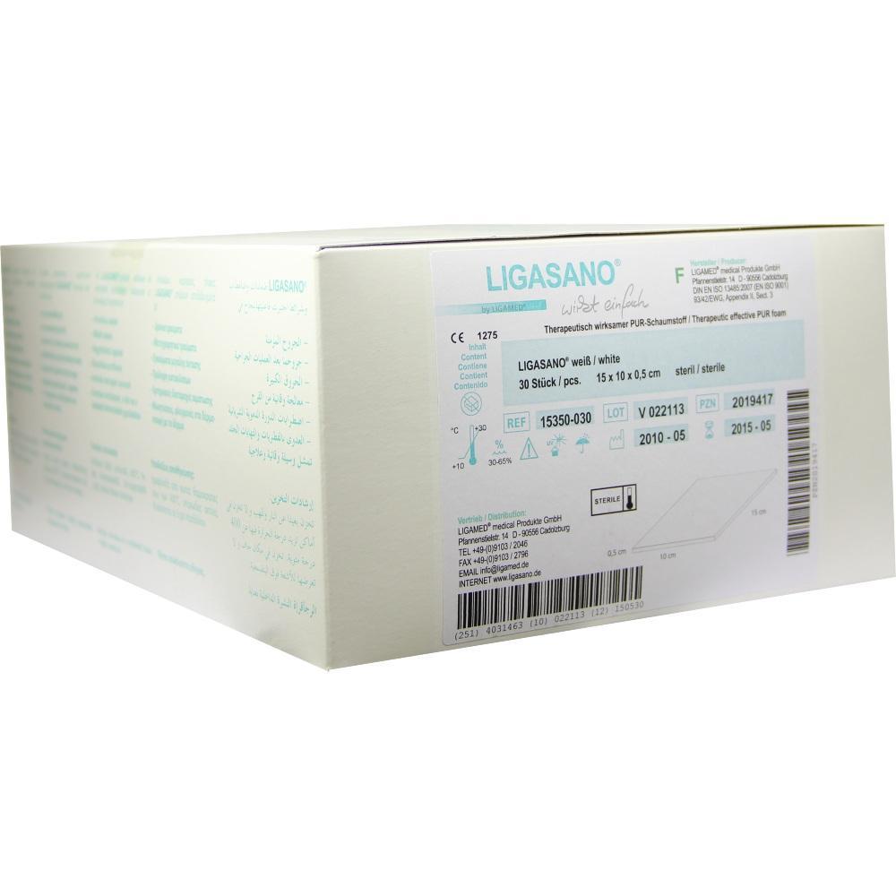 LIGASANO weiß Verband 0,5x10x15 cm steril