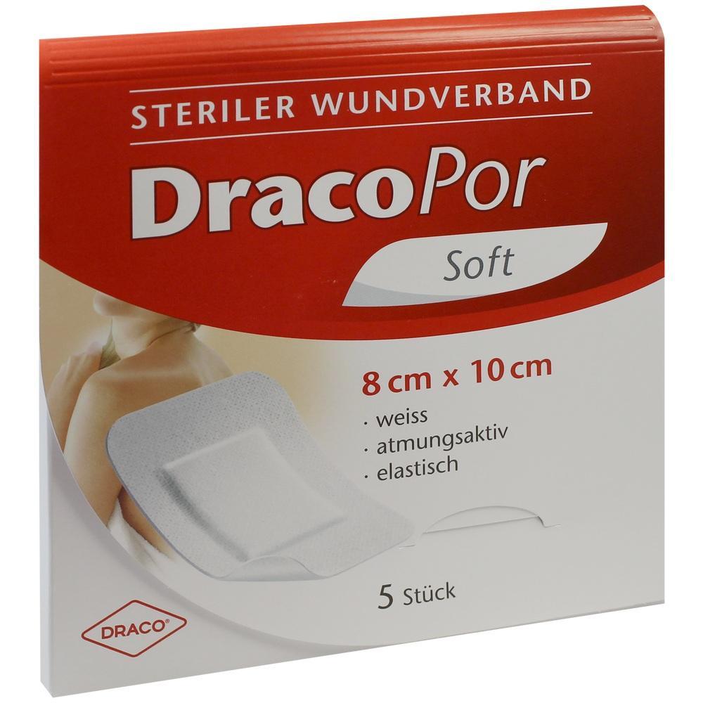 02027003, DRACOPOR Wundverband steril 8cmx10cm, 5 ST