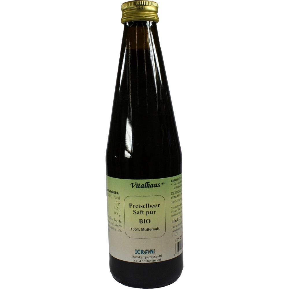 02052573, Preiselbeer Saft Pur Bio Vitalhaus, 330 ML