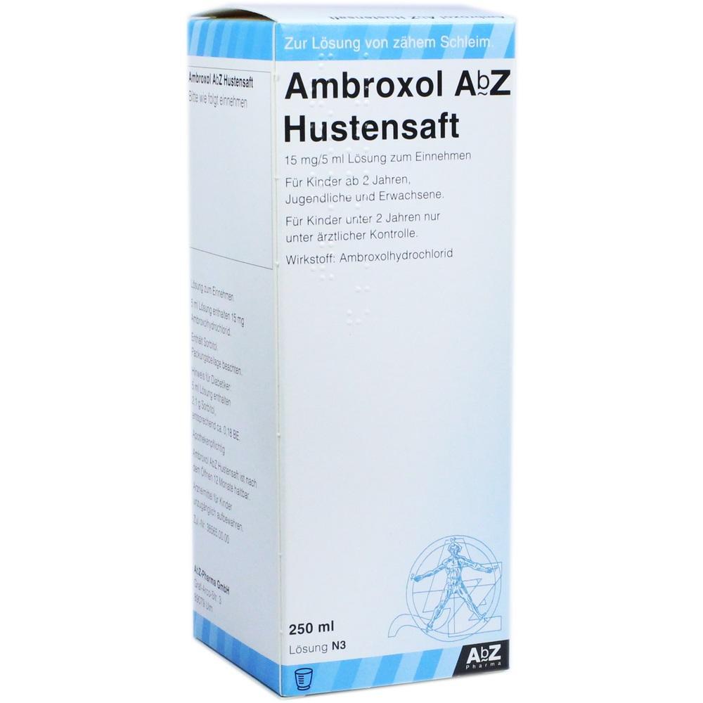 02058541, Ambroxol AbZ Hustensaft 15mg/5ml Lösung z Einnehm, 250 ML