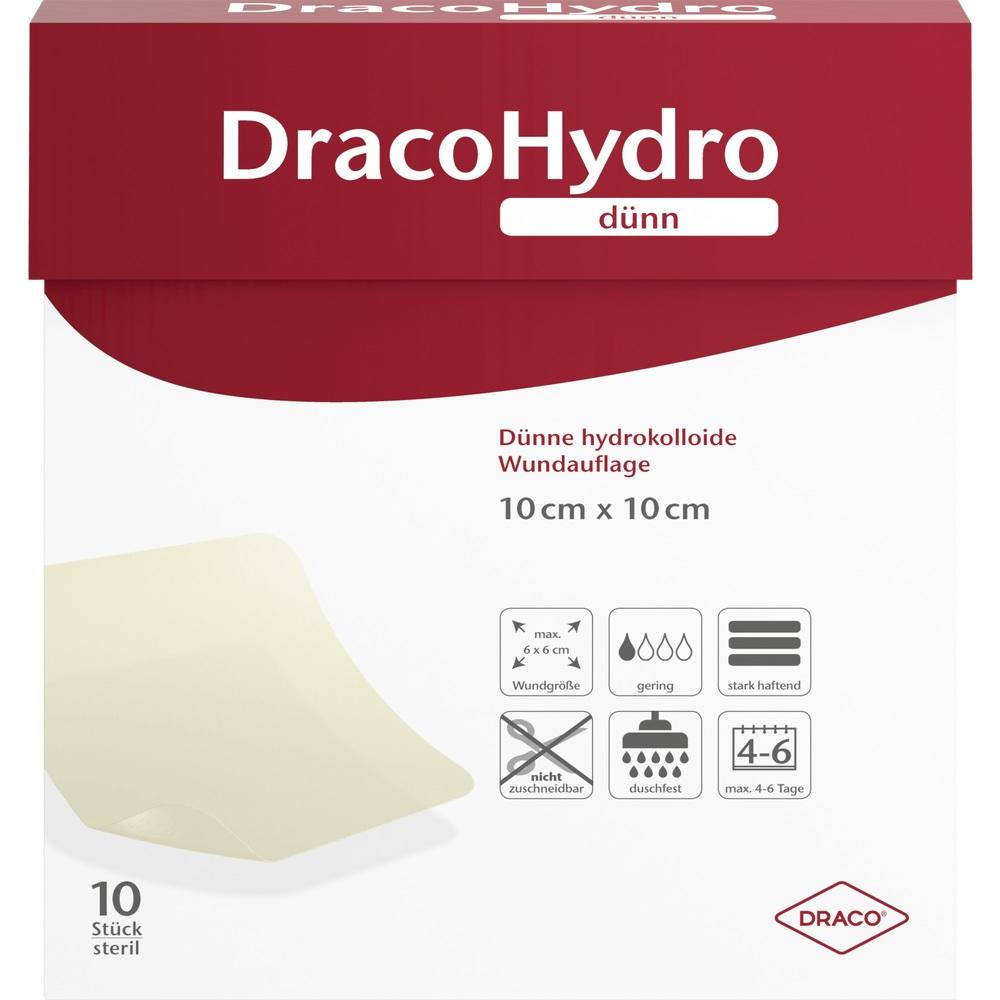 02065446, DracoHydro dünn Hydrokoll. Wundauflage 10x10cm, 10 ST