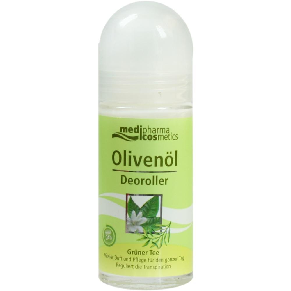 02084337, Olivenöl Deoroller Grüner Tee, 50 ML