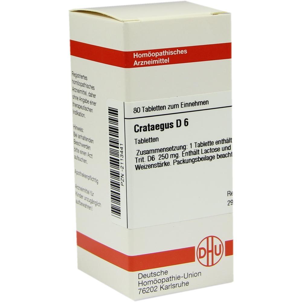 CRATAEGUS D 6 Tabletten