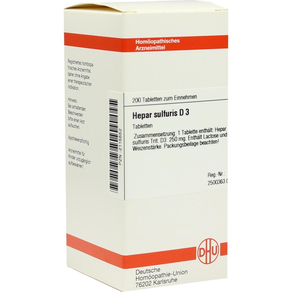 HEPAR SULFURIS D 3 Tabletten