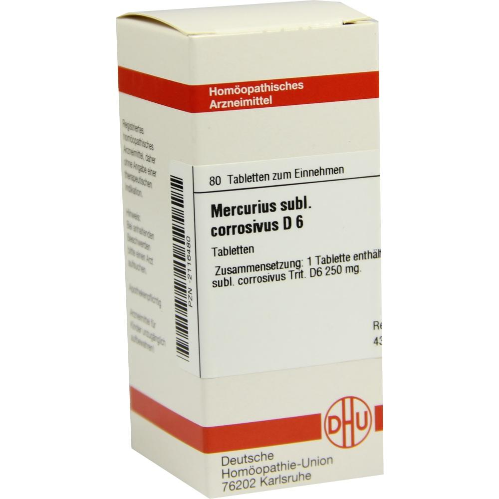 MERCURIUS SUBLIMATUS corrosivus D 6 Tabletten