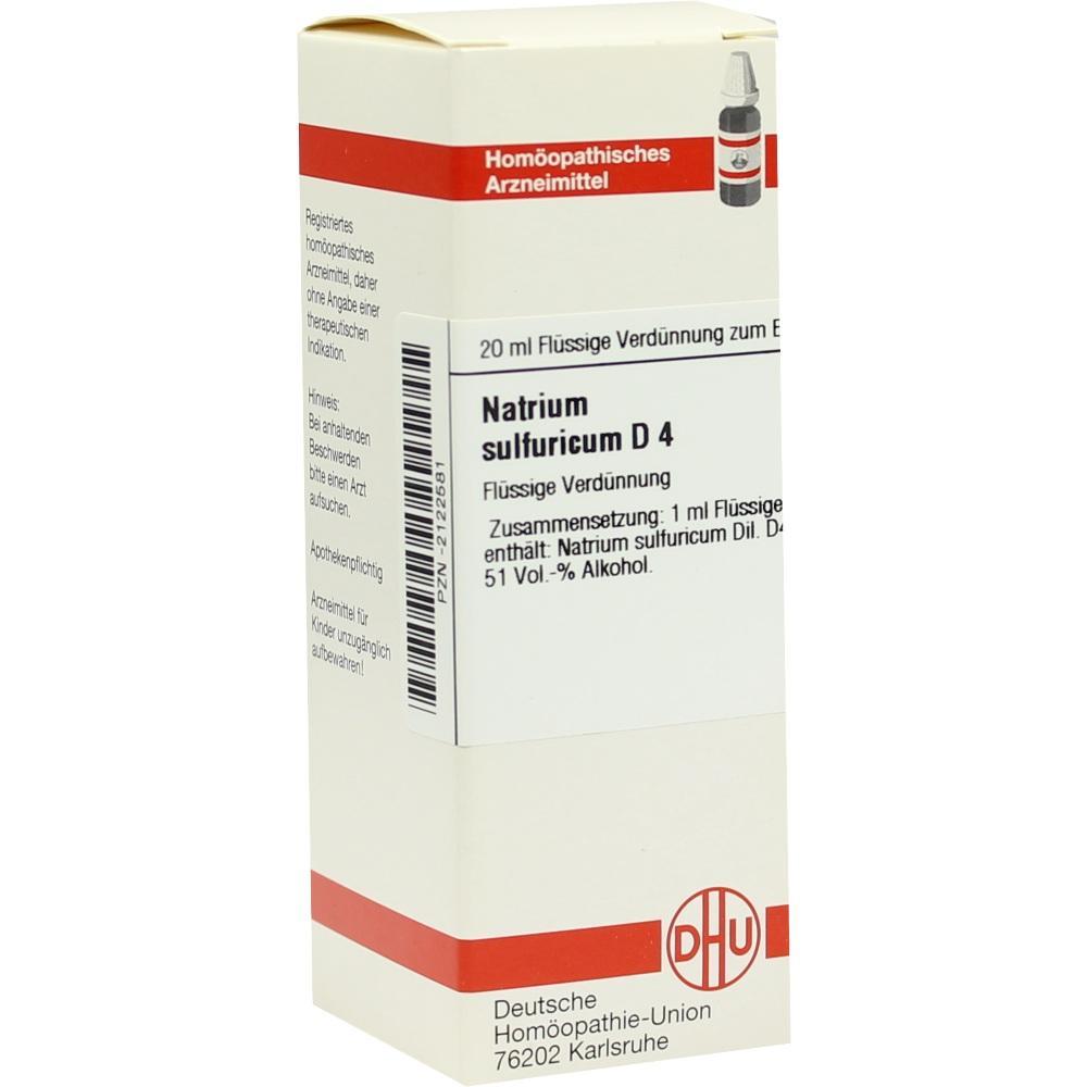 NATRIUM SULFURICUM D 4 Dilution