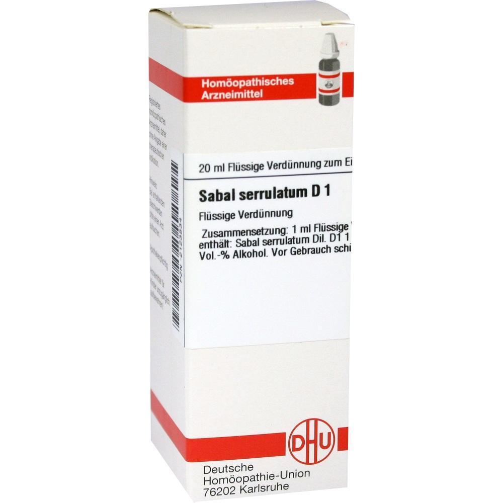 SABAL SERRULATUM D 1 Dilution