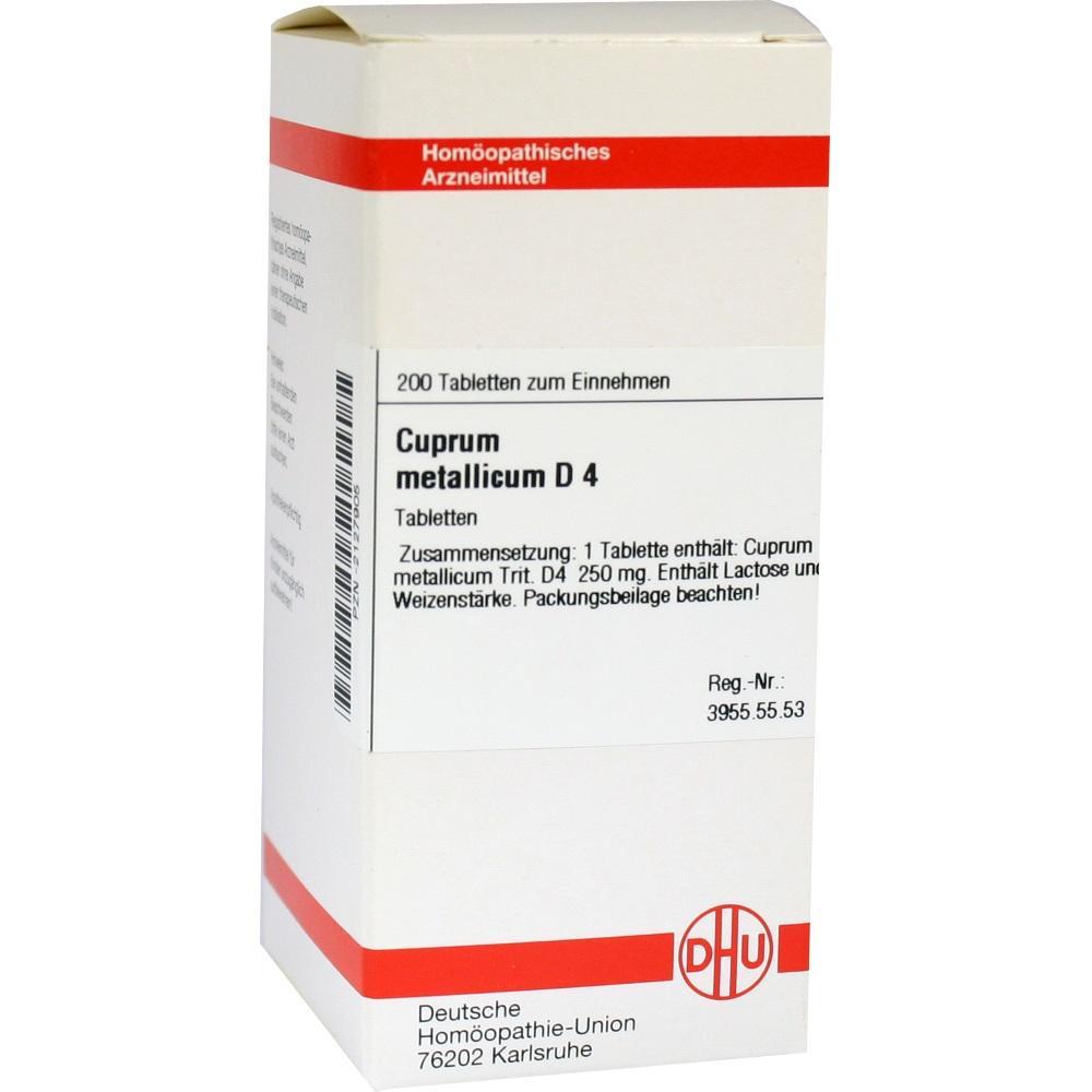 CUPRUM METALLICUM D 4 Tabletten