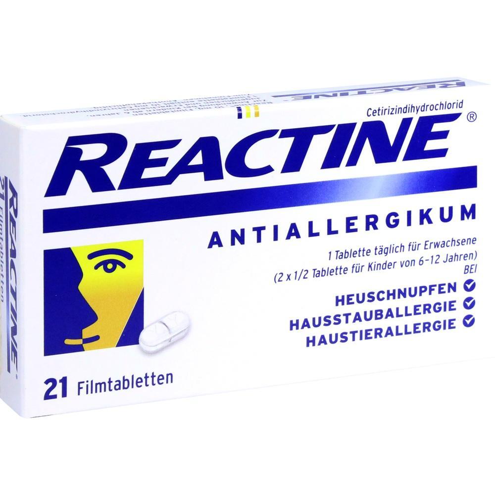 02152240, REACTINE Tabletten, 21 ST