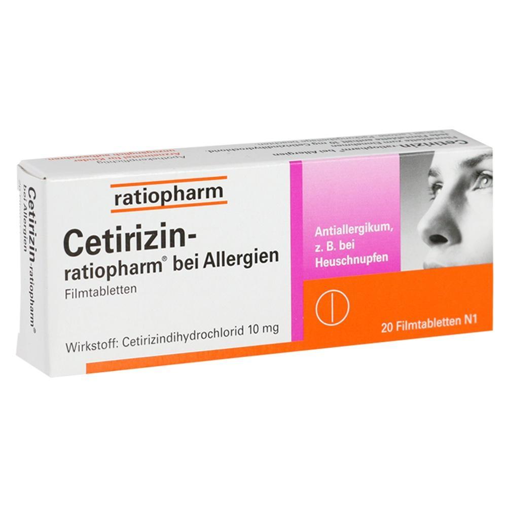 02158142, Cetirizin-ratiopharm bei Allergien 10 mg Filmtabl., 20 ST
