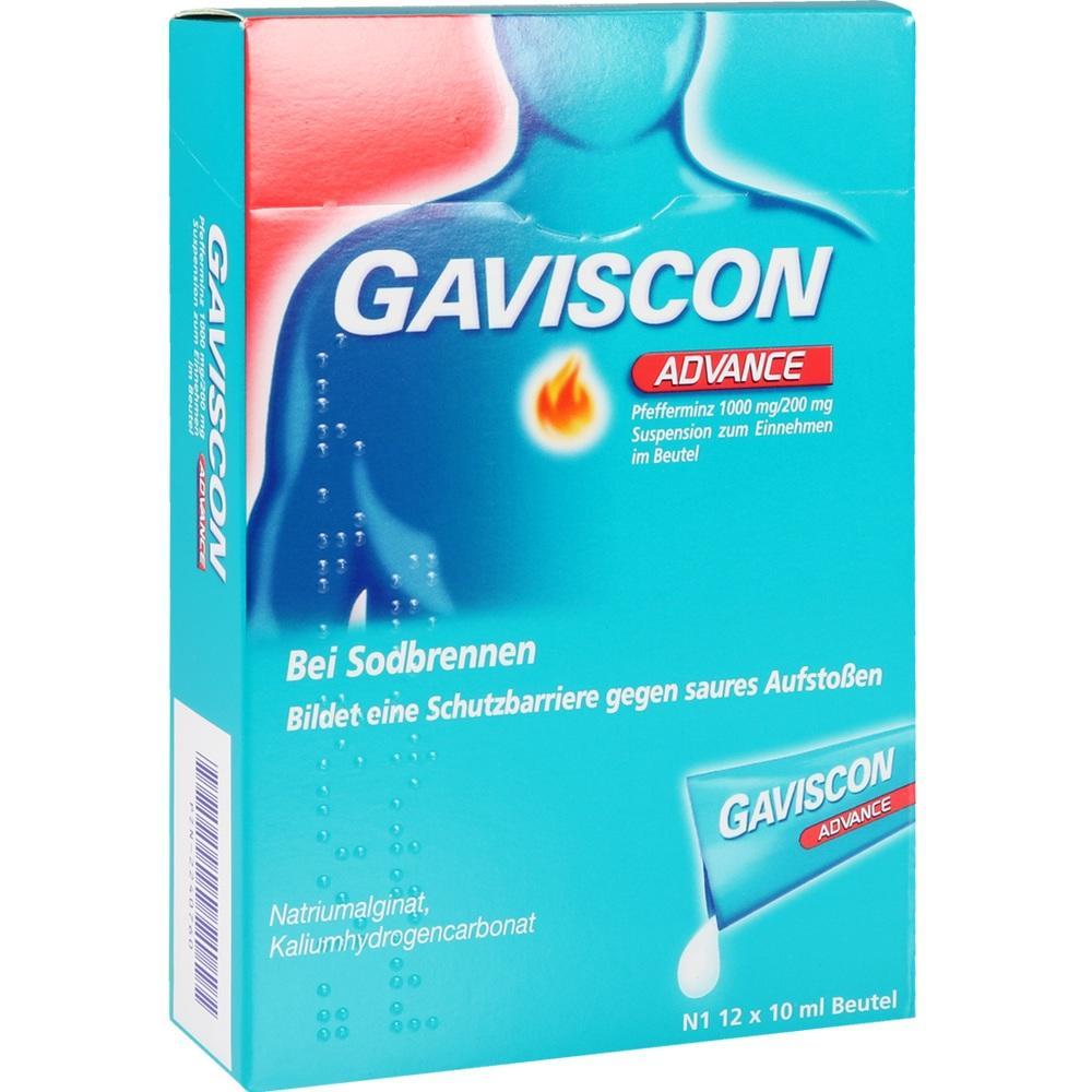 02240760, Gaviscon Advance Pfefferminz, 12X10 ML