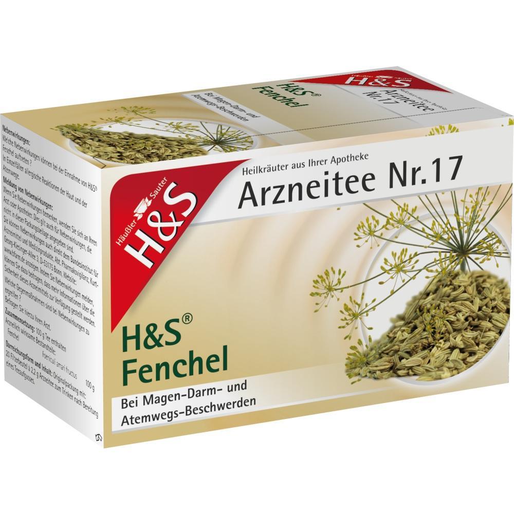 02286041, H&S FENCHELTEE UNGEMISCHT, 20X2.2 G
