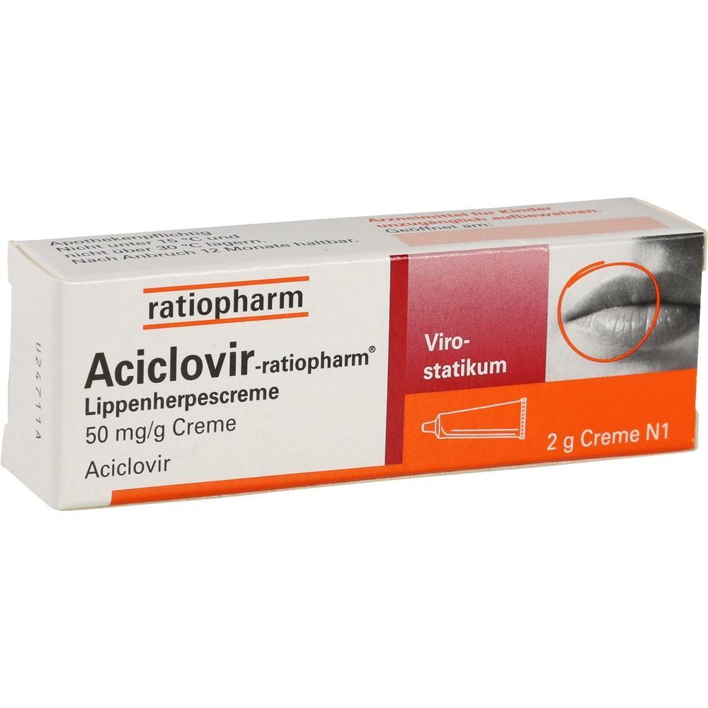 02286360, Aciclovir-ratiopharm Lippenherpescreme, 2 G