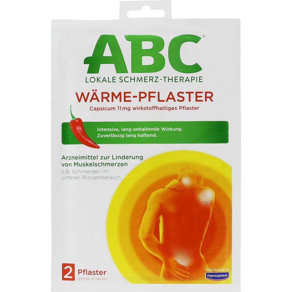02295643, ABC Wärme-Pflaster Capsicum Hansaplast med 12x14, 2 ST