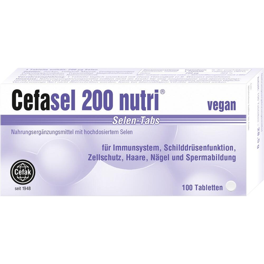 02330807, Cefasel 200 nutri Selen-Tabs, 100 ST