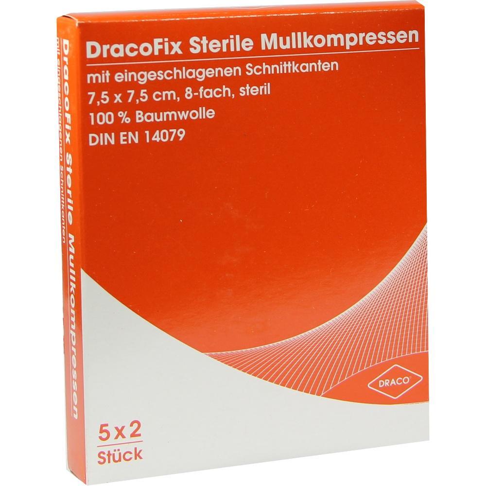 02358697, DRACOFIX PEEL KOM steril 7.5X7.5 8fach, 5X2 ST