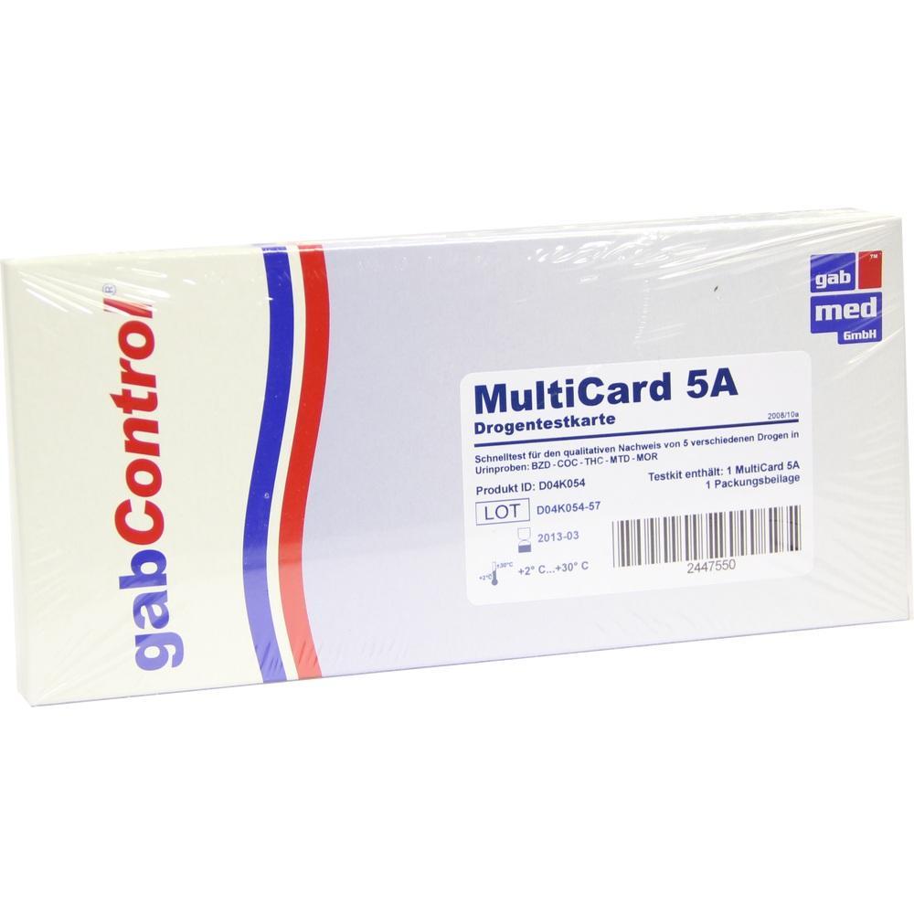 DROGENTEST Multi Param 5A Testkarte