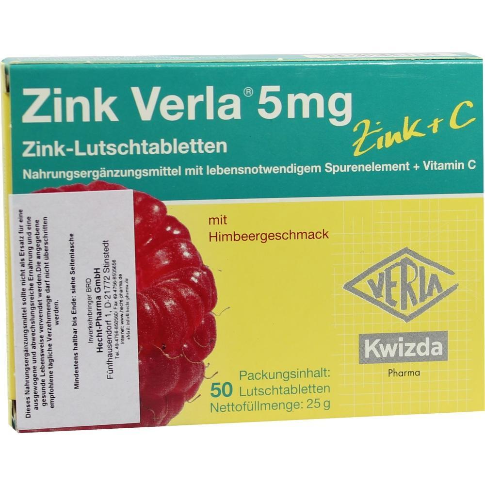ZINK VERLA 5 mg Lutschtabl.Himbeere