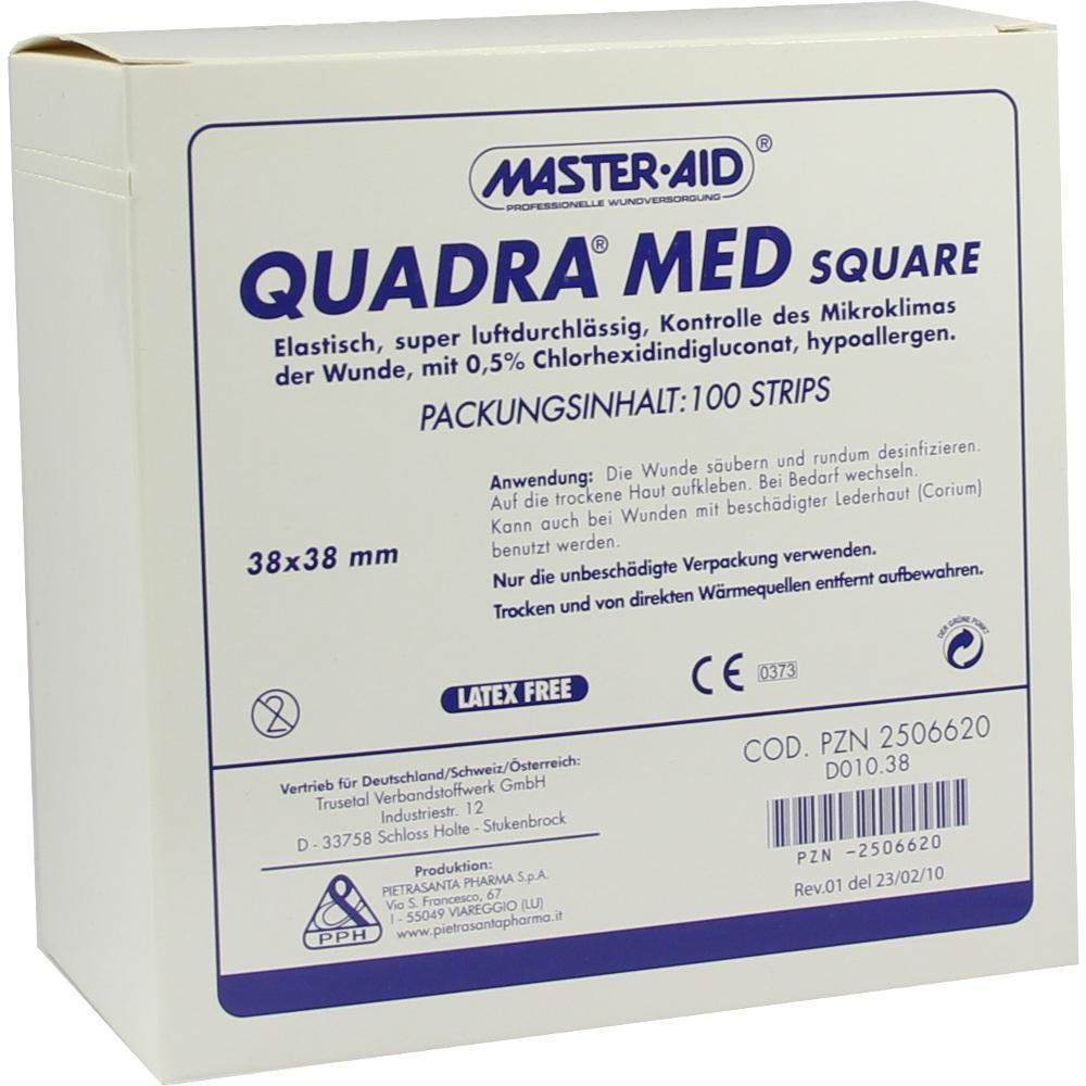 QUADRA MED square 38x38 mm Strips Master Aid