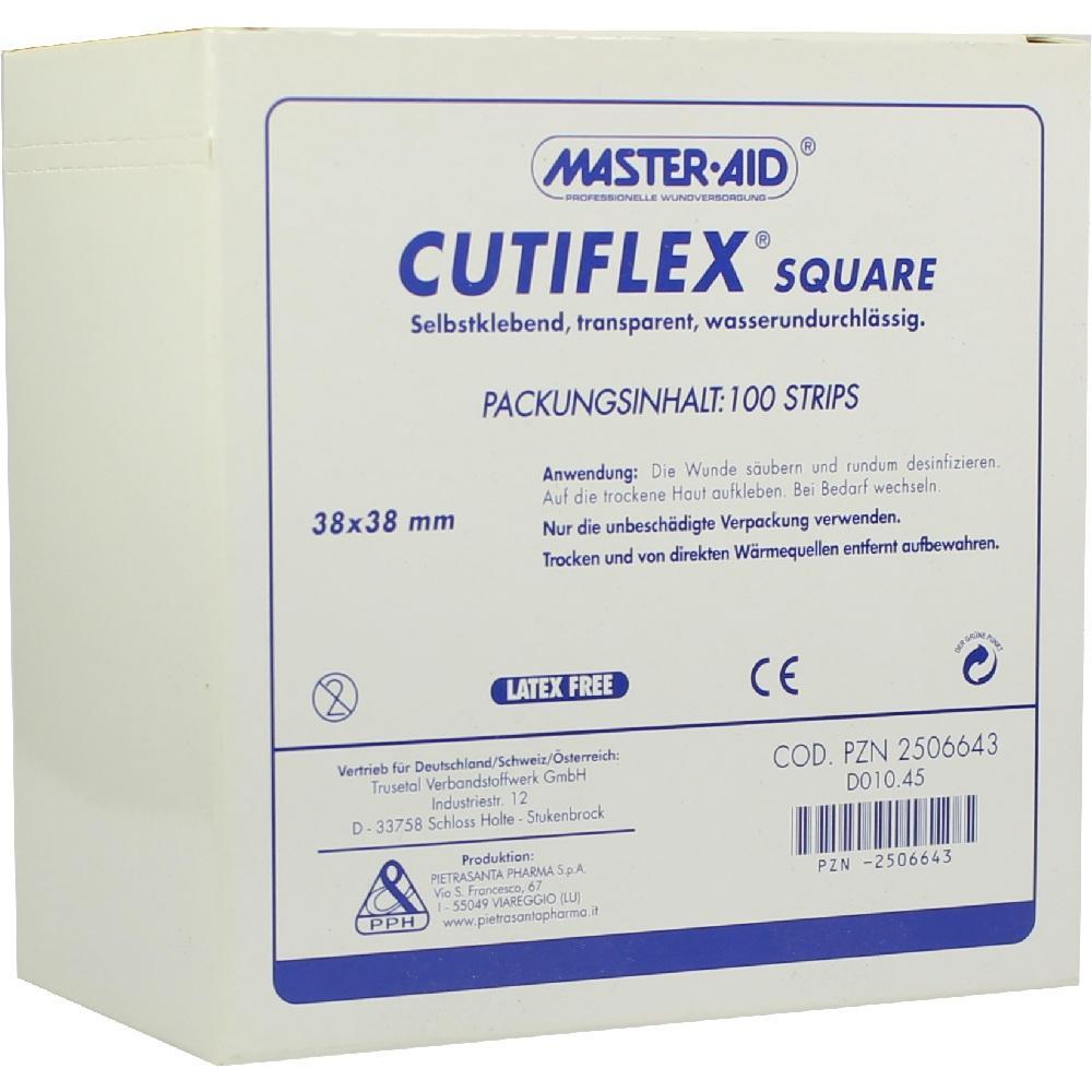 CUTIFLEX Folien-Pflaster square 38x38 mm MasterAid