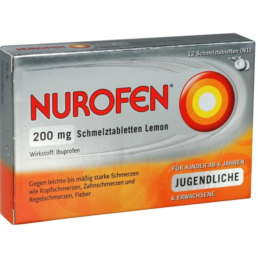 02547582, Nurofen 200mg Schmelztabletten Lemon, 12 ST