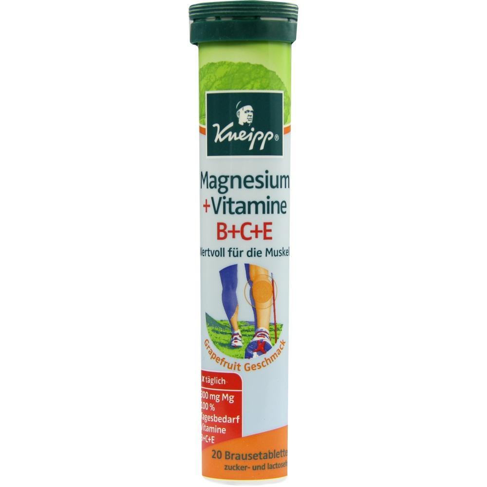 02565930, KNEIPP Magnesium + Vitamine Brausetabletten, 20 ST