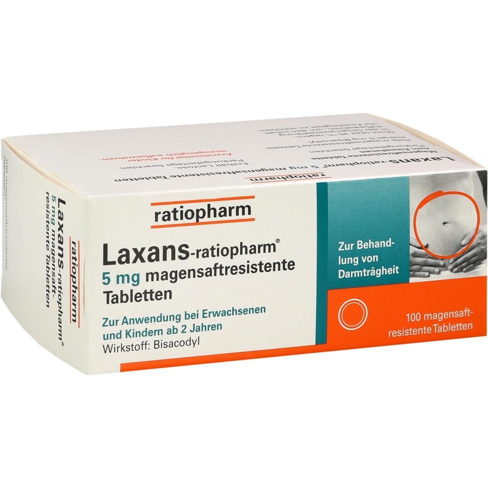 02570919, Laxans-ratiopharm 5mg magesaftresistente Tabletten, 100 ST