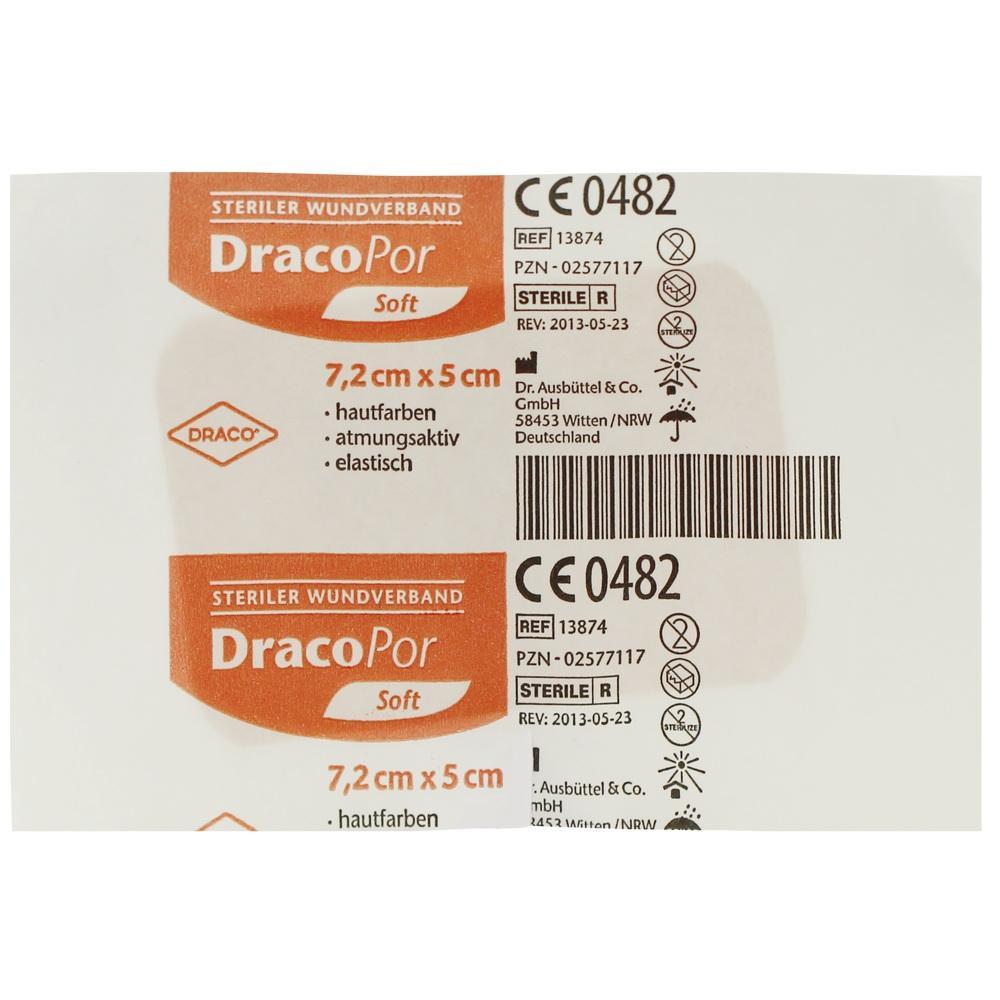 02577117, Dracopor Wundverband steril hautfarben ster5x7.2cm, 1 ST