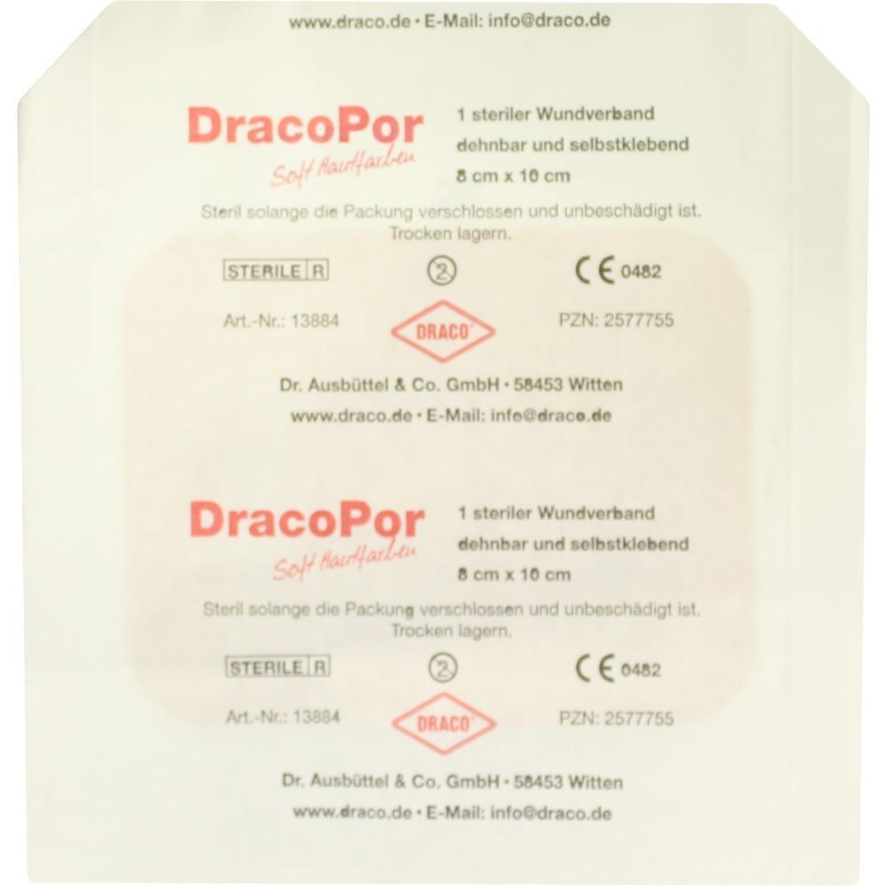 02577755, Dracopor Wundverband steril hautfarben ster 8x10cm, 1 ST