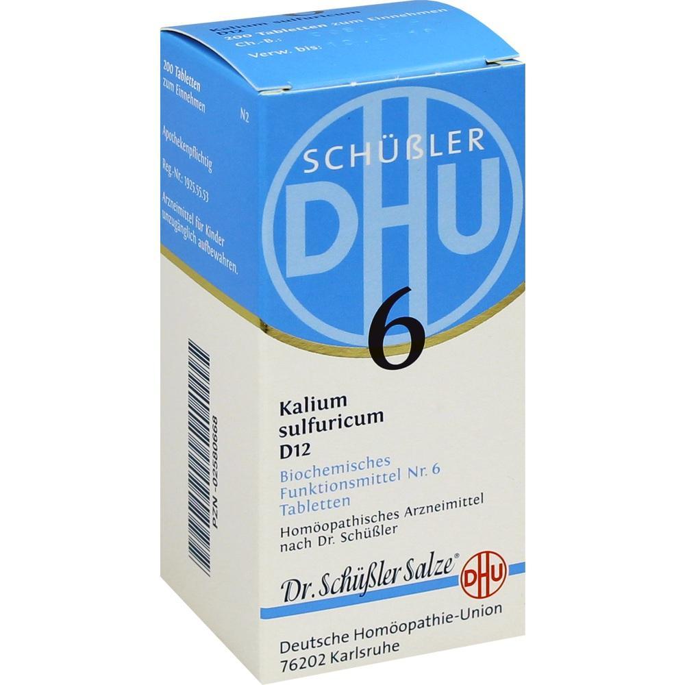 02580668, BIOCHEMIE DHU 6 KALIUM SULFURICUM D12, 200 ST