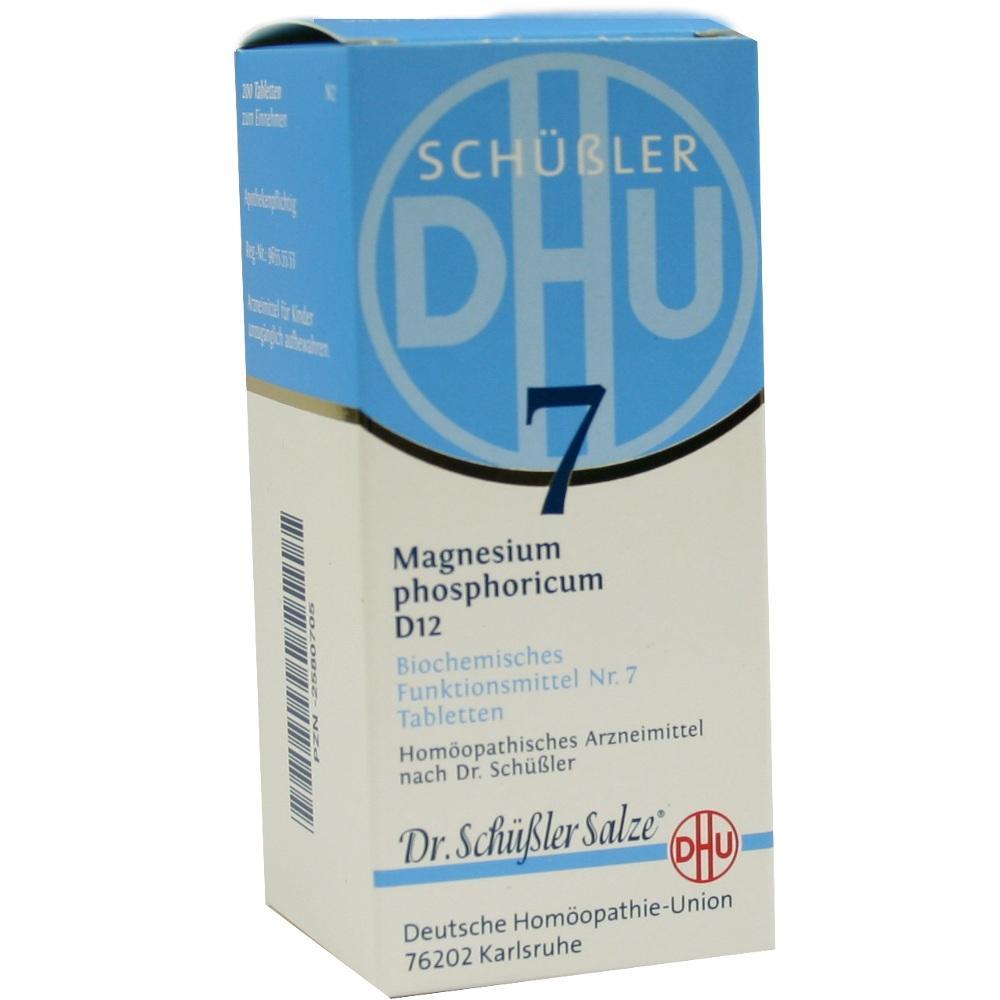 02580705, BIOCHEMIE DHU 7 MAGNESIUM PHOSPHORICUM D12, 200 ST