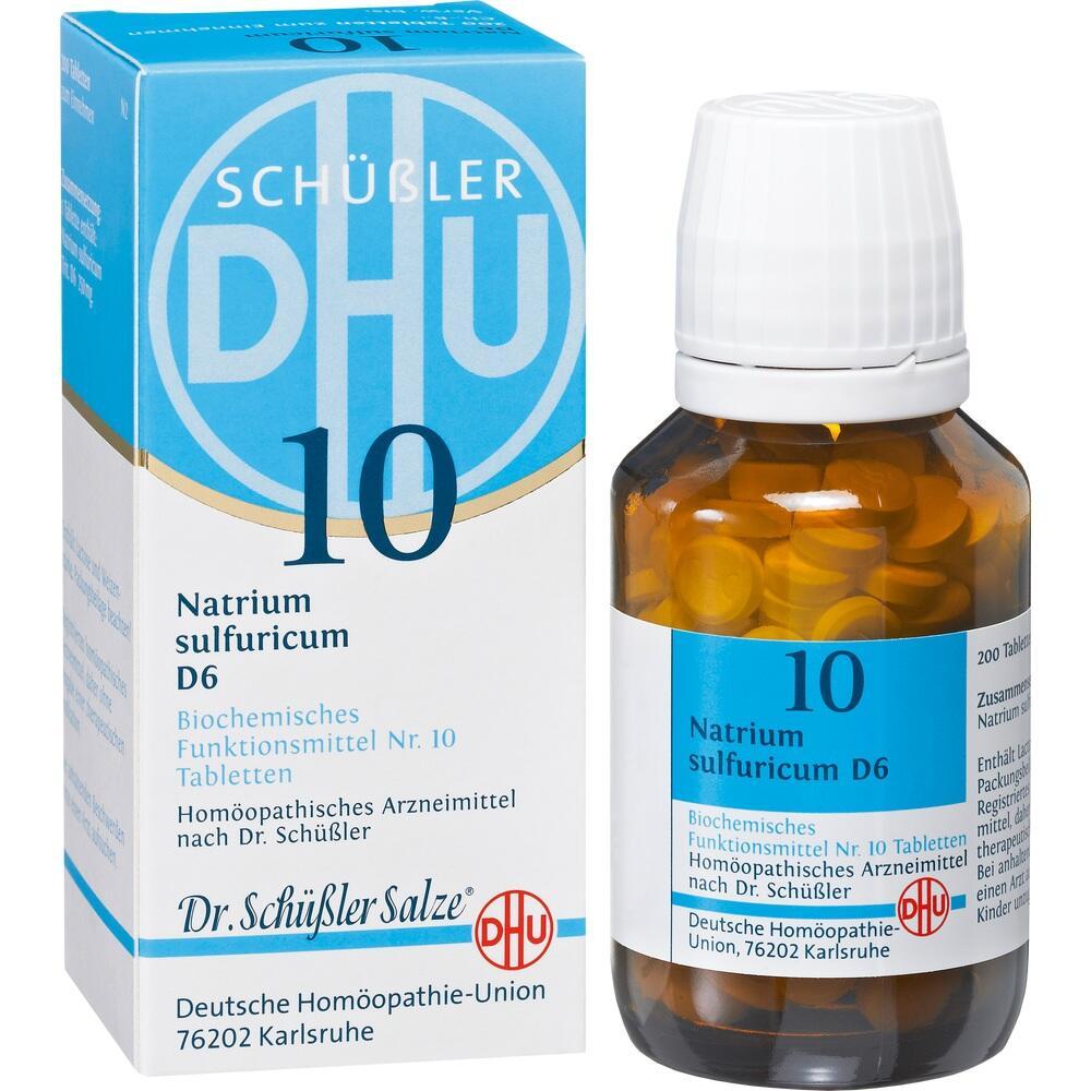 02580881, BIOCHEMIE DHU 10 NATRIUM SULFURICUM D 6, 200 ST