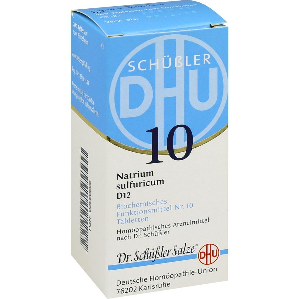 02580898, BIOCHEMIE DHU 10 NATRIUM SULFURICUM D12, 200 ST