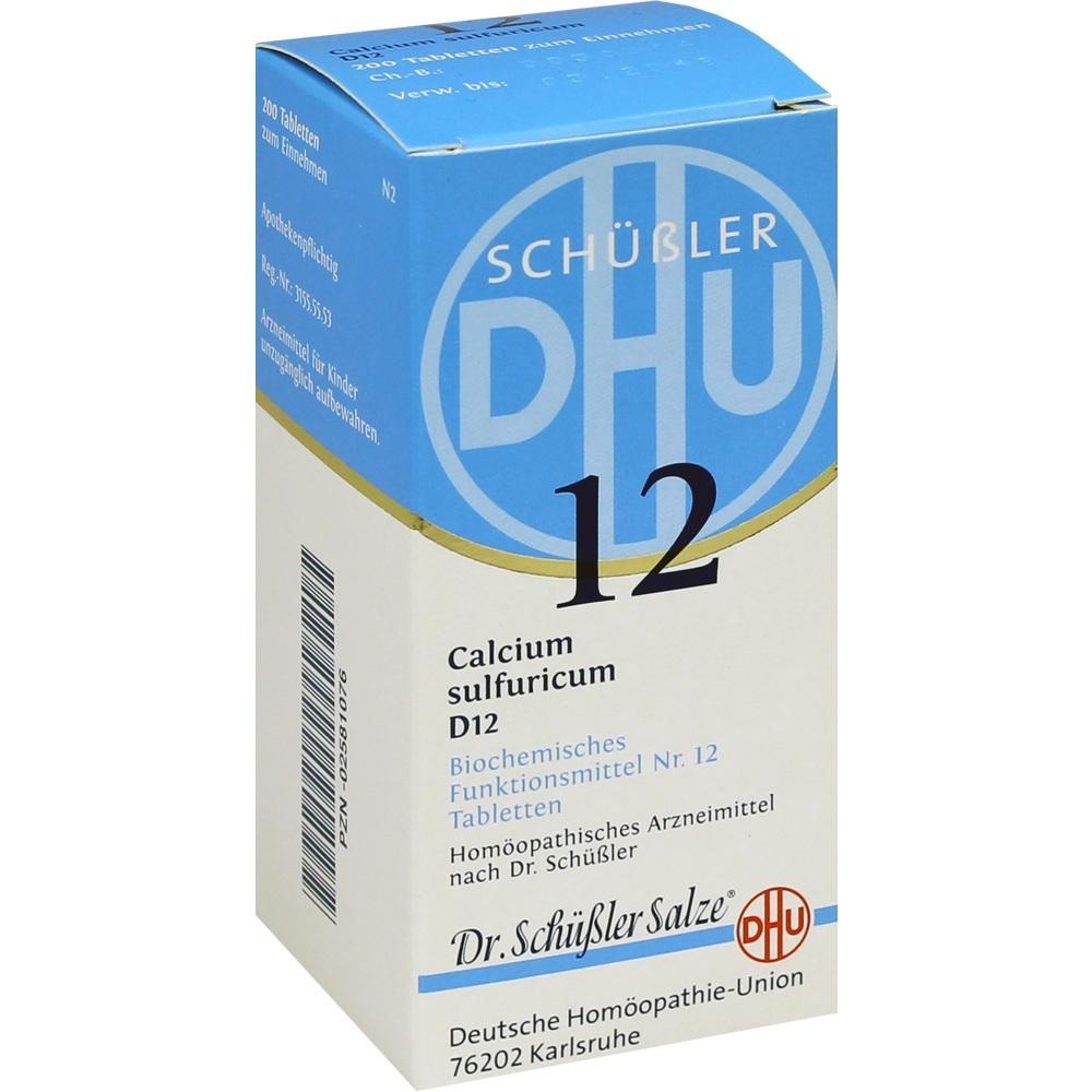 02581076, BIOCHEMIE DHU 12 CALCIUM SULFURICUM D12, 200 ST