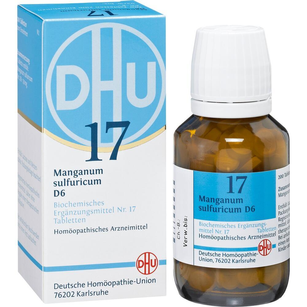 02581219, BIOCHEMIE DHU 17 MANGANUM SULFURICUM D 6, 200 ST