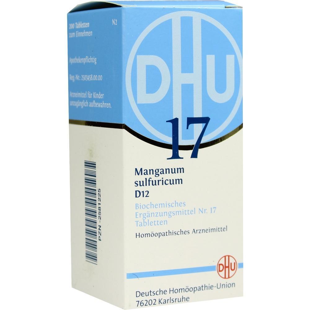 02581225, BIOCHEMIE DHU 17 MANGANUM SULFURICUM D12, 200 ST
