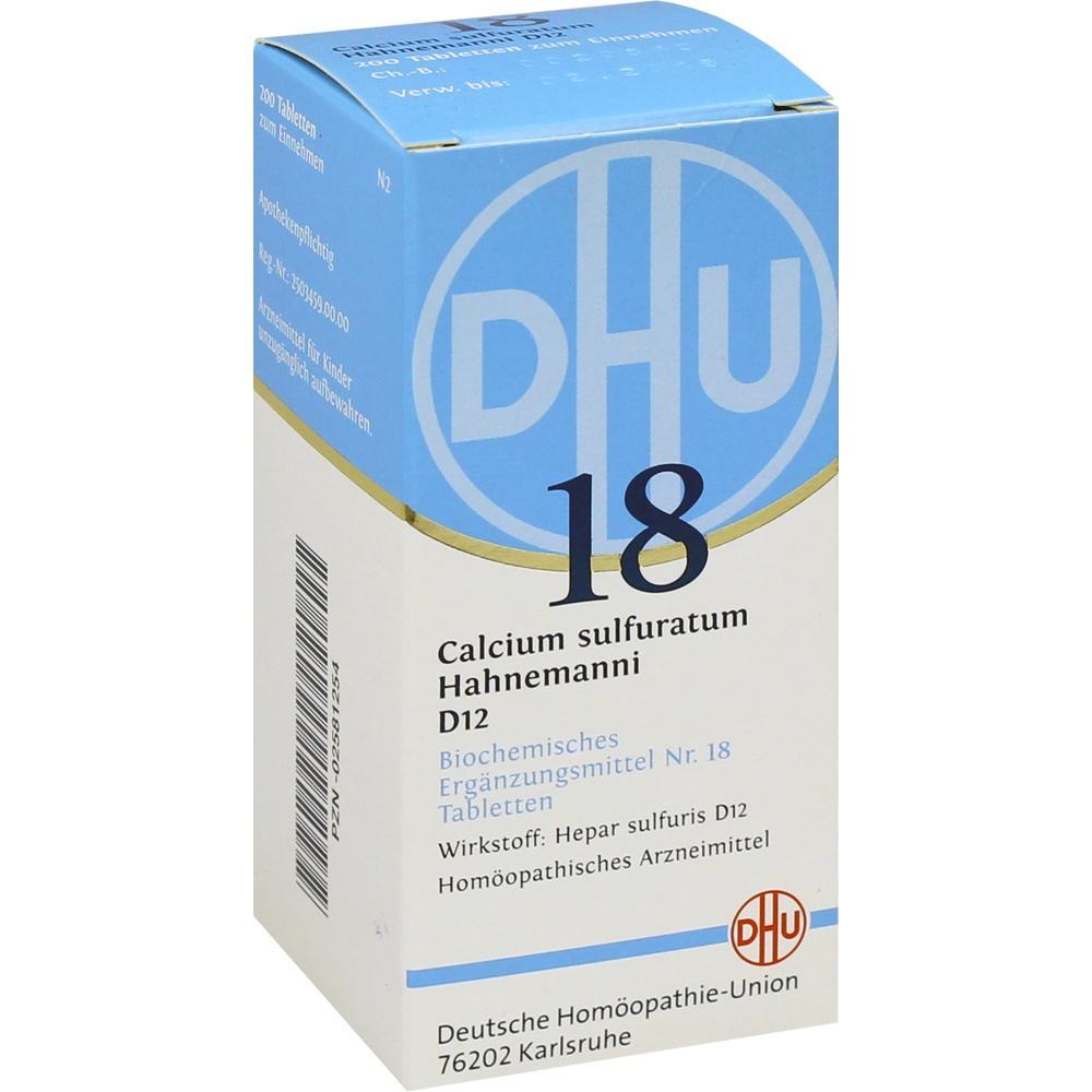 02581254, BIOCHEMIE DHU 18 CALCIUM SULFURATUM HAHNEMANNI D12, 200 ST
